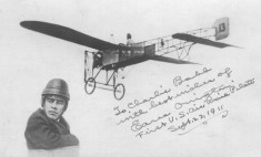 Earle Ovingtonand his plane