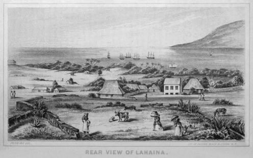 Edward_T._Perkins,_Rear_View_of_Lahaina,_1854-WC