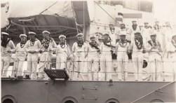 Emden Crew with lei