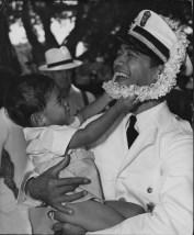 Ernest Lovell, Royal Hawaiian Band member, and his nephew Dayton-PP-4-4-036-1935