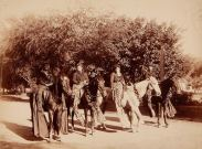Four_pāʻū_riders,_ca._1880s