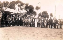 Gathering at Aviation prison camp, October 10 1927, Hilo