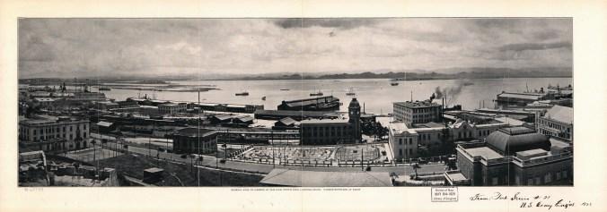 General_view_of_harbor_at_San_Juan,_Porto_Rico_looking_South to San Juan Bay, 1927