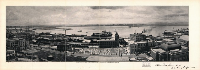 General_view_of_harbor_at_San_Juan,_Porto_Rico_looking_South to San Juan Bay, 1927