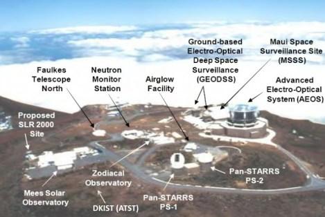 Haleakalā High Altitude Observatory Site Aerial Showing Existing Facilities