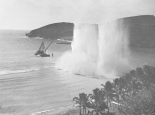 Hanauma_Bay-Blasting_for_Telephone_Cable-1956