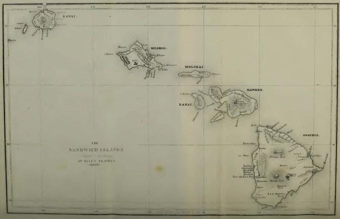 Hawaiian Islands from Hill-1856