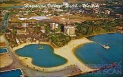 Hawaiian Village Hotel Aerial View c1958-(kamaaina56)
