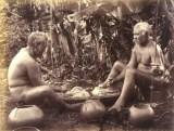 Hawaiian men pounding kalo-(BishopMuseum)