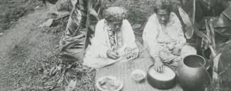 Hawaiian women eating poi, photo by J.A. Gonsalves-(BishopMuseum)-ca. 1920