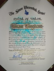Hiram Bingham IV-MedalOfValor_Citation