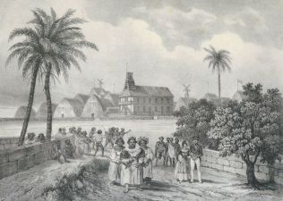 Holoku-Kinau_returning_from_church-Masselot-1837