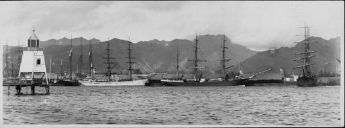 Honolulu Harbor Light-1880s