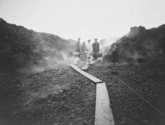 Hoopuloa -- June 21, 1926 (five figures near boardwalk)-HMCS