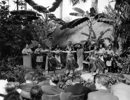 Hula dancers-Pualani Mossman, Leilani Mossman, Piilani Mossman