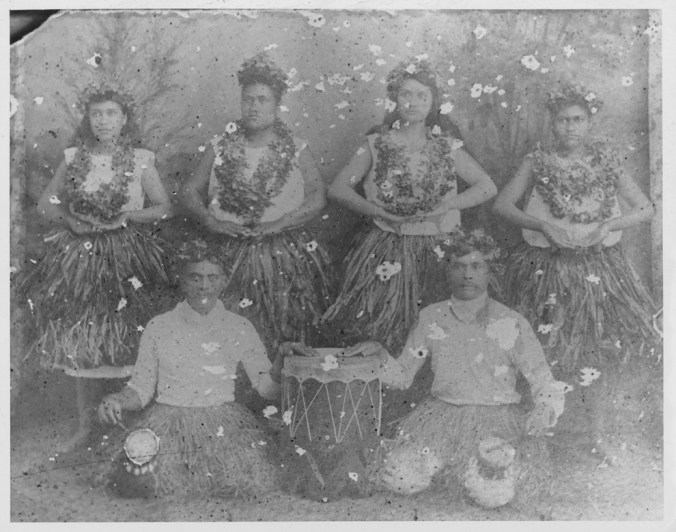 Hula touring troupe in San Francisco-PP-32-8-008-1892