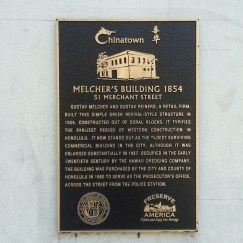 Melchers Bldg plaque