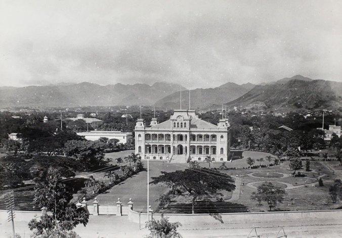 Iolani Palace, circa 1889