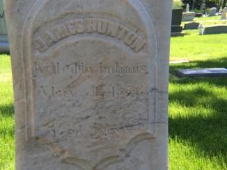 James Hunton-gravestone