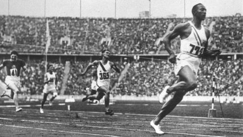 Jesse Owens college sophomore at Ohio State University-May 25, 1935