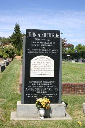 John Augustus Sutter, Jr gravestone