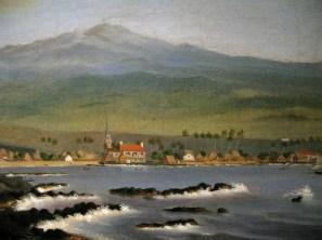 Kailua-Kona with Hualalai, Hulihee Palace and Church, 1852-WLA_haa_James_Gay_Sawkins-WC