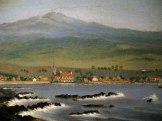 Kailua-Kona with Hualalai, Hulihee Palace and Church, 1852-WLA_haa_James_Gay_Sawkins-WC
