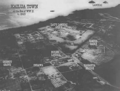 Kailua-Town-aerial-(MyKailua)-1940s