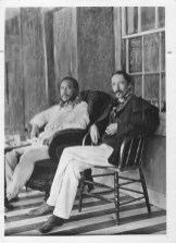 Kalakaua, King of Hawaii, 1836-1891 with Robert Louis Stevenson (1850-1894)-(HSA)-PP-96-14-001-1889