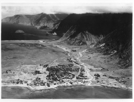 Kalaupapa peninsula on the island of Molokai circa 1888