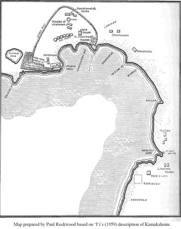Kamakahonu map by Rockwood based on Ii-Rechtman