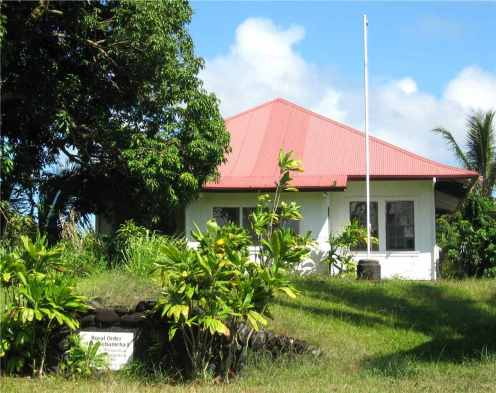 Kamehameha Hall in Hilo, meeting house of the Royal Order of King Kamehameha
