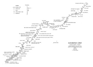 Kaumana Cave-Map-Halliday
