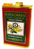 Kikkoman-gallon can