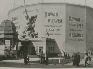 Kilauea cyclorama on the Midway Plaisance at the World's Columbian Exhibition, Chicago, 1893