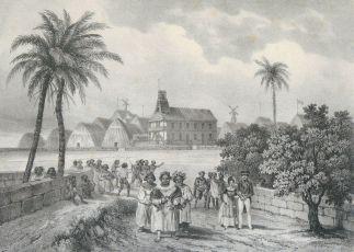 Kinau_returning_from_church-Masselot-1837