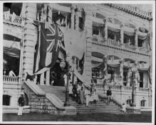 King Kalakaua and Liliuokalani lead the way with Queen Kapiolani and Gov. John O Dominis following-PP-36-8-014-1886