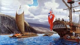 King_Kalaniopuu_Welcomes_Cook-Kealakekua-(HerbKane)