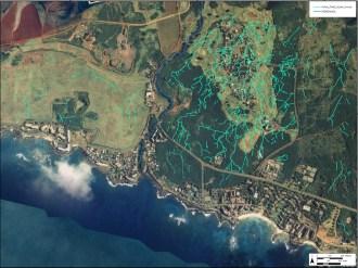 Koloa_Field_System-Aerial-Auwai-Hammatt