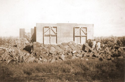 Kong Lung Store, now called Kong Lung Trading, being built with field stones-happyhourdesign
