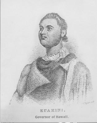 'John Adams' Kuakini, royal governor or the island of Hawai'i, circa 1823