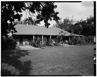 LANAI AND ORIGINAL STRUCTURE, LOOKING SOUTHEAST-LOC