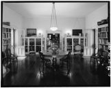 LIBRARY LOOKING NORTH TOWARD DRAWING ROOM (NOTE-THREE ENTRIES TO LIBRARY FROM OUTSIDE; LEFT, RIGHT, AND BEHIND PHOTOGRAPHER-LOC