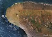 Lanai-GoogleEarth-noting_location_of_Ke-ahi-a-Kawelo ('the-fire-of-Kawelo' - Garden of the Gods, Lānaʻi)