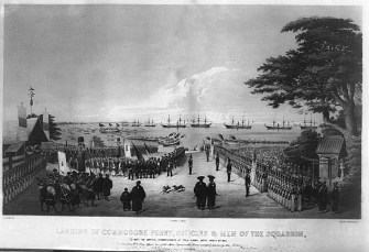 Landing of Commodore Perry To meet the Imperial Commissioners March 8, 1854 LOC