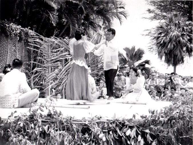 Lei Day, Filipino Bamboo Pole Dance UH-(vic&becky)-1954