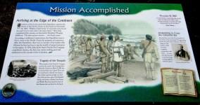 Lewis and Clark-plaque