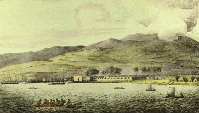 Louis_Choris_-_-Vue_du_port_hanarourou-Port_of_Honolulu-1816