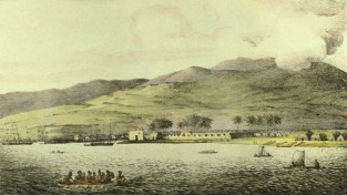 Louis_Choris_-_'Vue_du_port_hanarourou'-Port_of_Honolulu-1816