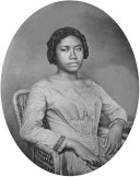 Lydia Kamakaʻeha Pākī, the future Queen Liliuokalani, in her youth possibly at Royal School.